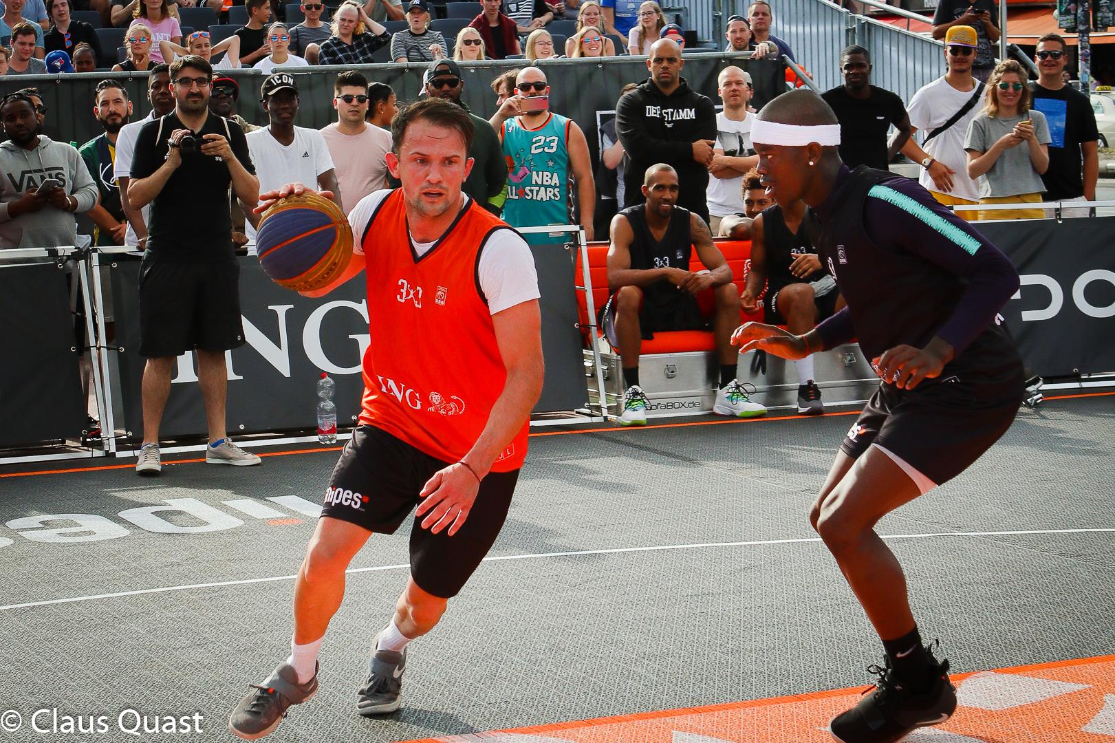 Spieler Beim Basketball Englisch